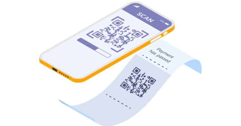 Receipt scanner - phone w/ scanner taking image of receipt